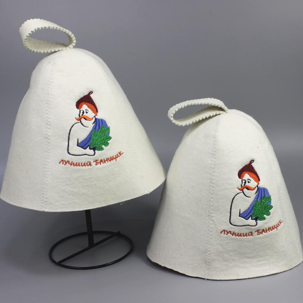 (2db / tétel) fehér tartós szauna kalap, gyapjú szauna kalap, - Háztartási árucikkek