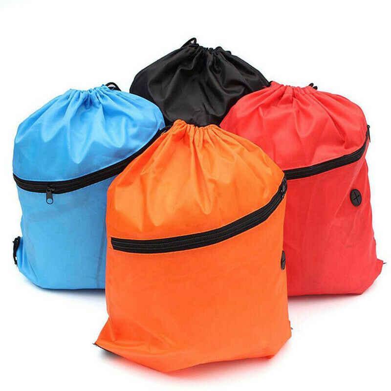2019 для женщин водонепроницаемая сумка на шнуровке однотонная повседневная обувь Backapack Кемпинг легкий Сумка для спортзала мужчин открытый рюкзак