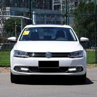 Fog lamp For Volkswagen VW Jetta Sagitar MK6 2012 2013 2014 car styling driving LED DRL Daytime Running Light Daylight