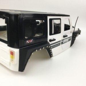 Image 4 - Nylon Wütend Kühlergrill Motor Abdeckung Rad Augenbraue Set Für 1/10 RC Crawler Auto Jeep Wrangler Axial Scx10 90046 90047 90048