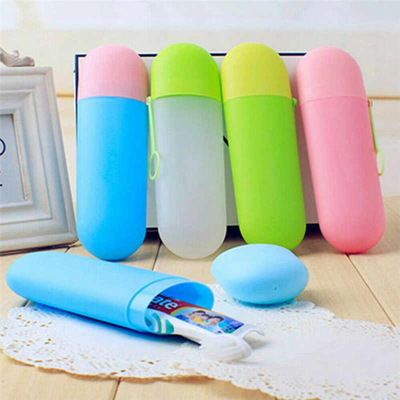 Новый Нетоксичный портативный пластиковая зубная щетка зубная паста ванная комната держатель чашки путешествия уход за зубами нетоксичный портативный пластик ванная комната
