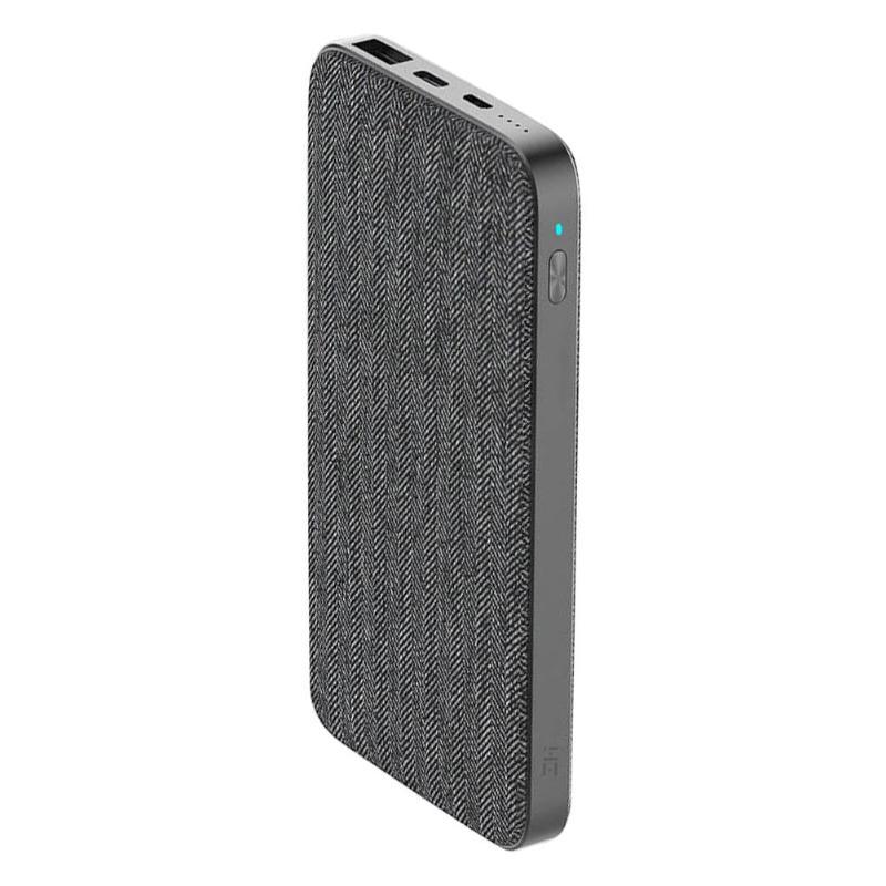Xiaomi ZMI B910 10000 mAh nouveau style de mode batterie externe en tissu gris QC3.0 PD type-c PD 2 voies Charge rapide 18 W batterie externe