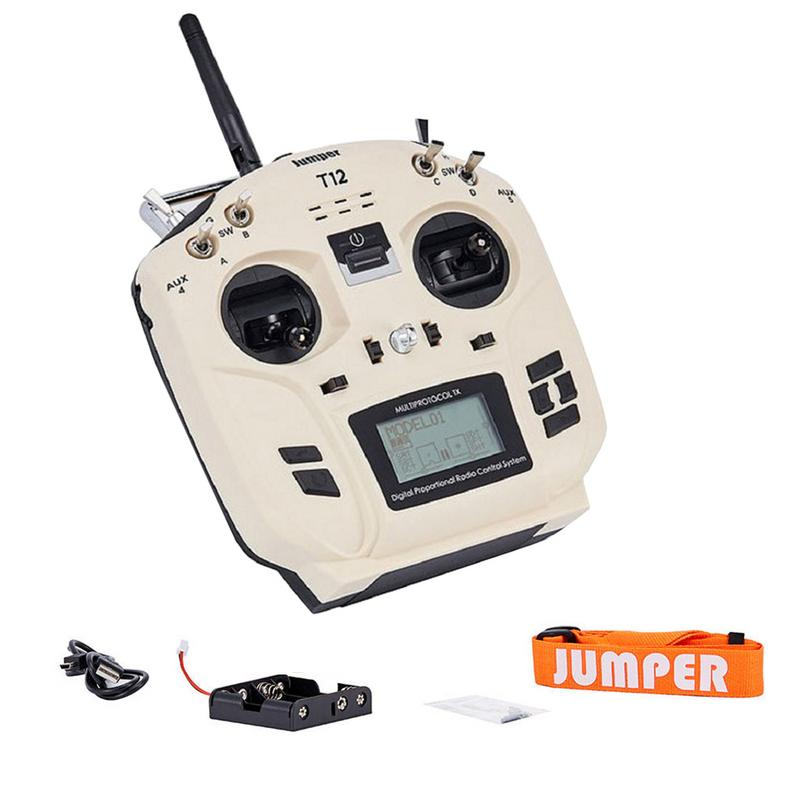 лучшая цена Jumper T12 OpenTX 16CH Radio Transmitter With JP4-in-1 Multi-protocol RF Module For Frsky JR Flysky