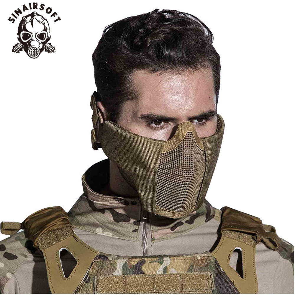 Nová taktická airsoftová maska Poloviční dolní čelní - Sportovní oblečení a doplňky
