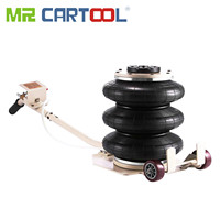 Mr Cartool Pneumatic Car Jacks 3 Ton Triple Bag Air Jack Lifting 6600LBS Capacity Extremely Fast Lifting Action