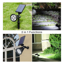 BRILEX Solar Lights LED Garden IP65 Waterproof Automatic Turn on/off Charging for Decoration