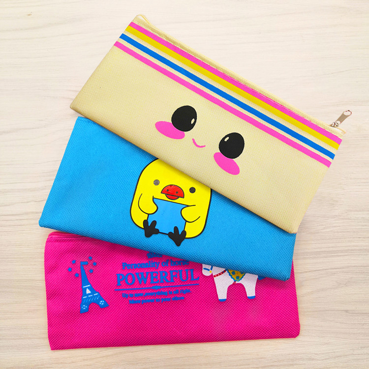 341e3b9d953f Cartoon Students Bag Canvans Pencil Bag Pen Box Animals Cat Chicken Horse  Pencil Case For Children