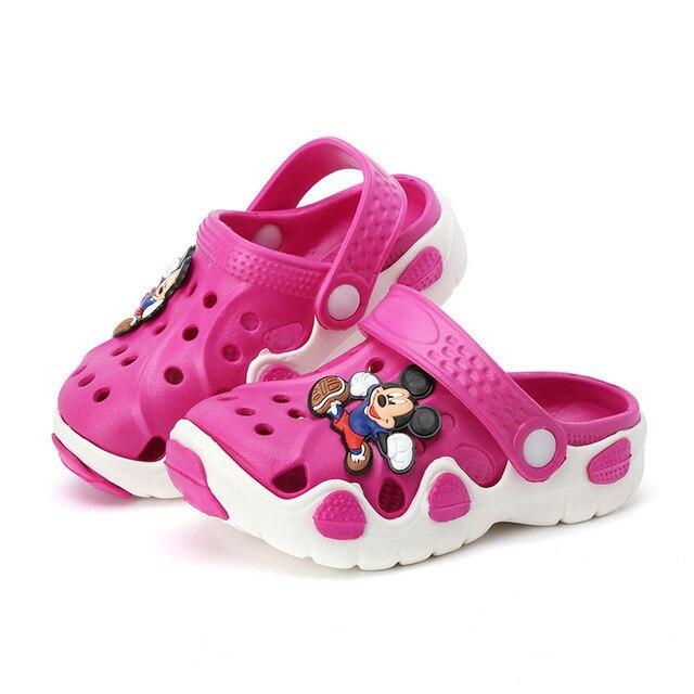2018 Children Cartoon Cave Shoes, Men's Girls Beach Summer Children's Slippers, Antiskid Soft Bottom, Baby Bathrooms Cold Towing