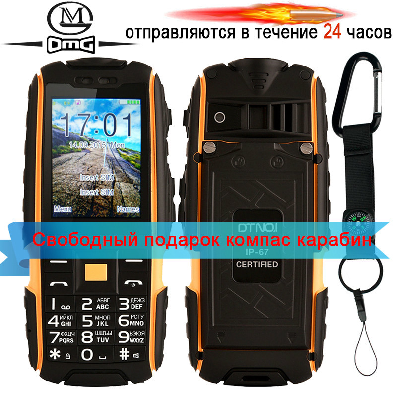 Original DTNO I A9 Russian keyboard IP67 Waterproof shockproof phone 4800mAh battery Dual SIM mobile phone