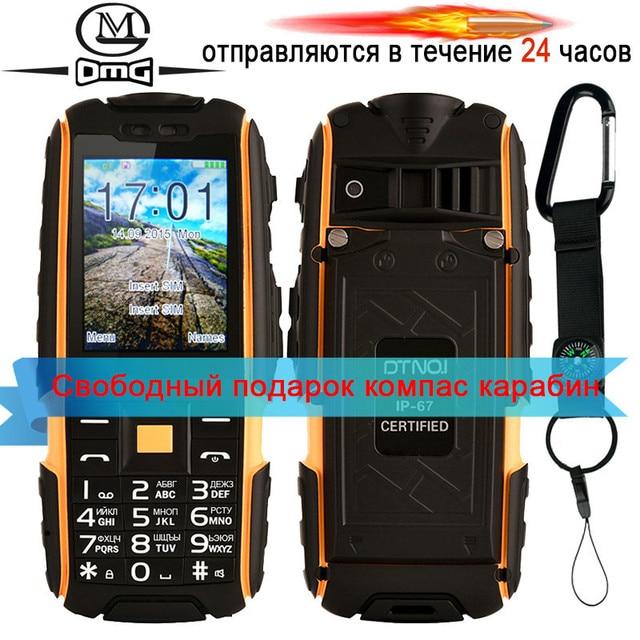 מקורי DTNO. אני A9 רוסית מקלדת IP67 עמיד למים עמיד הלם טלפון 4800 mAh סוללה כפולה ה-SIM נייד טלפון FM flashligh טלפונים