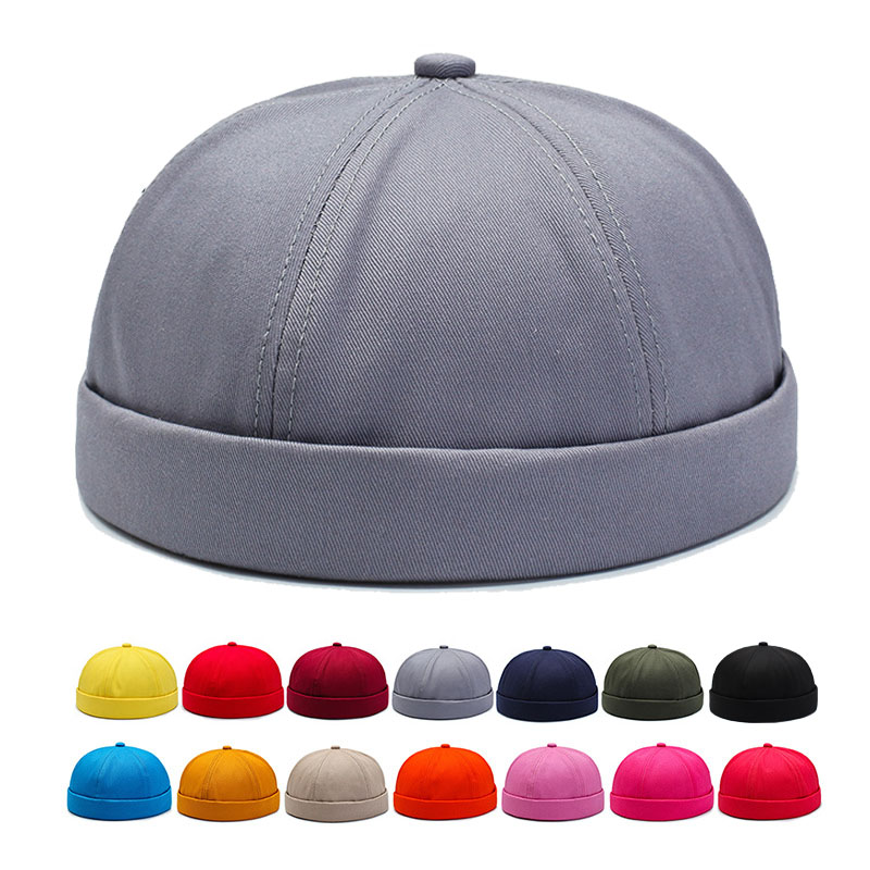Brimless Hat for Men Women Fitted Cotton Bonnet Skullcap Red Small Xl Youth Summer Black Brimless Cap Docker Sailor Watch   Beanie