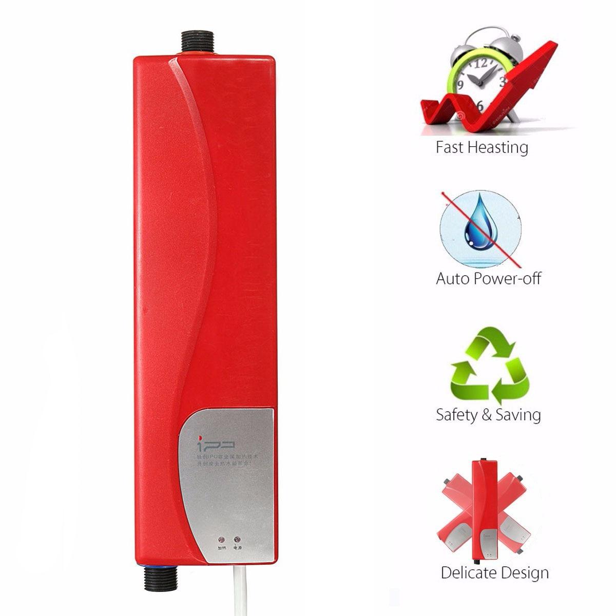 Mini 220V 3000W Electric Water Heater EU Plug Insta