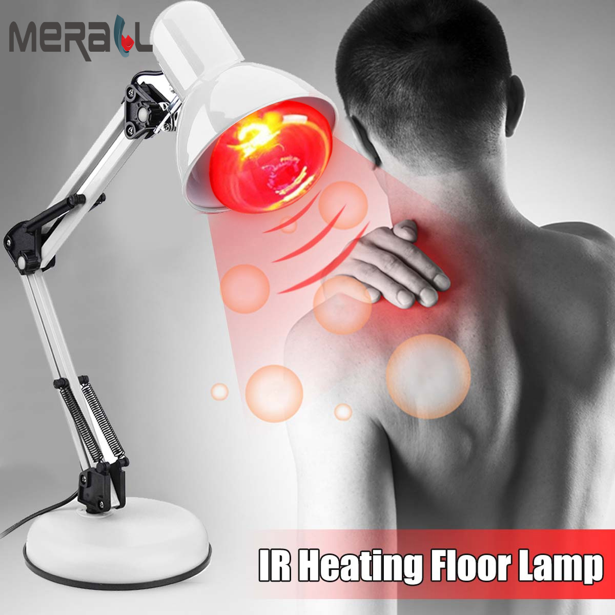 Floor Stand Massage TDP Infrared Therapy Heat Lamp Health Pain Relief Physiotherapy Health Care Massager Electric Infrared Light in Massage Relaxation from Beauty Health