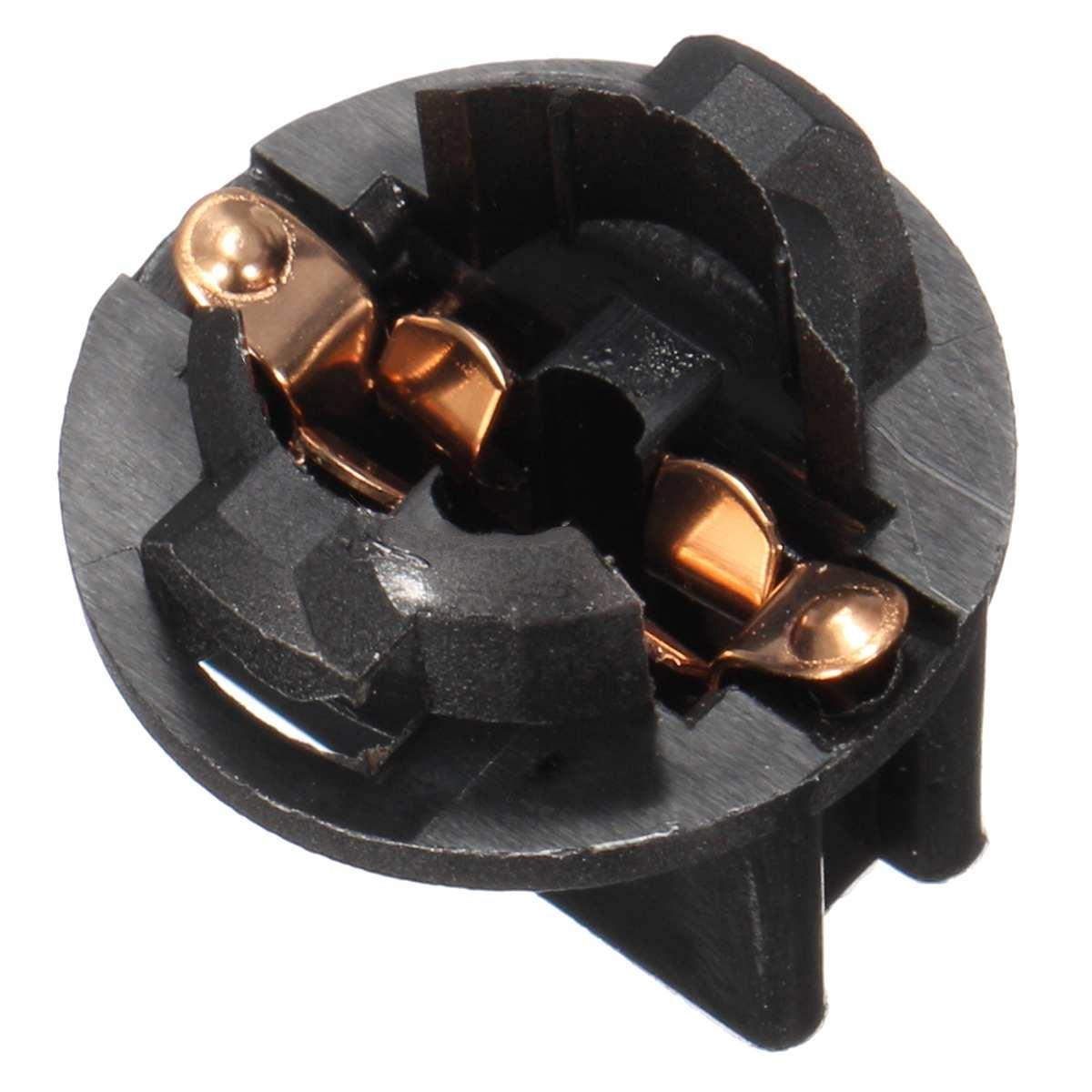 10pc 10.7mm T10 Socket Car Light Dash Twist Lock Wedge Instrument Panel Base Bulb Socket Plug Lamp Holder Black