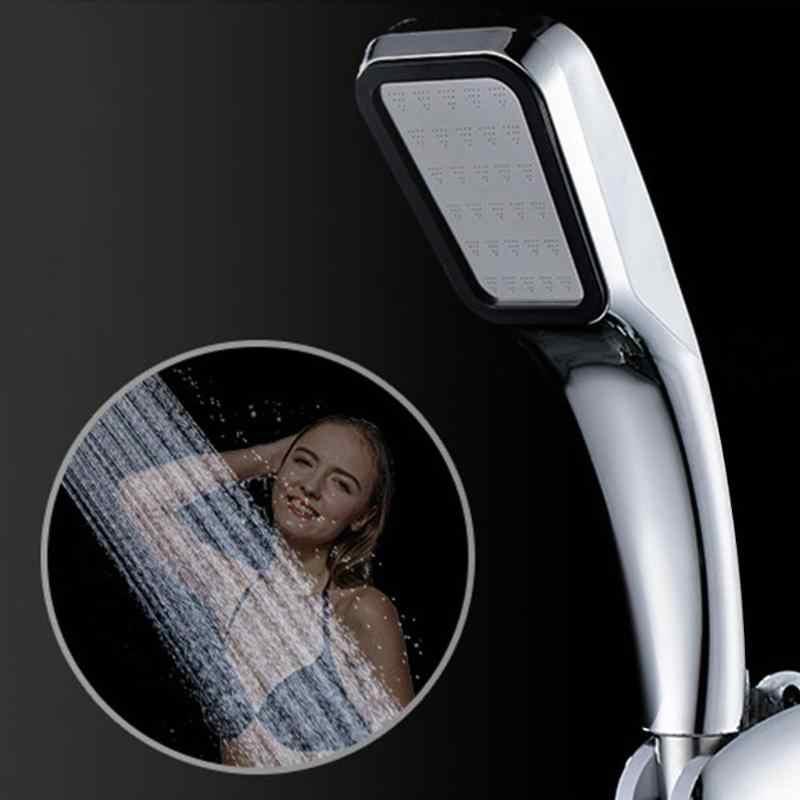 Ręczna wysokociśnieniowa głowica prysznicowa chromowana płyta panelowa usprawniająca oszczędzanie wody kwadratowa łazienka 300 otworów prysznic dekoracje domu