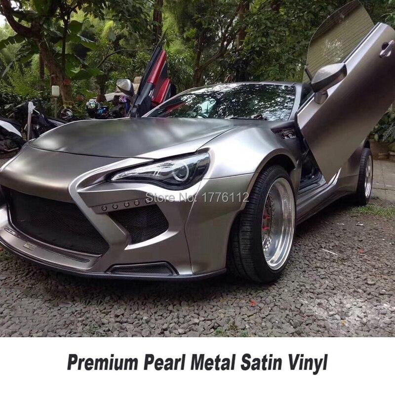 Highest Quality Gunsmoke Grey Matte Metallic Wrapping Film Pearl Metal Vinyl Wrap Foil  For High End Car Germany Glue