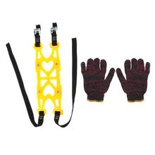 VODOOL 6pcs TPU Snow Chains Universal Car Suit Tyre Winter Roadway Safety Anti Slip Tire Climbing Mud Ground