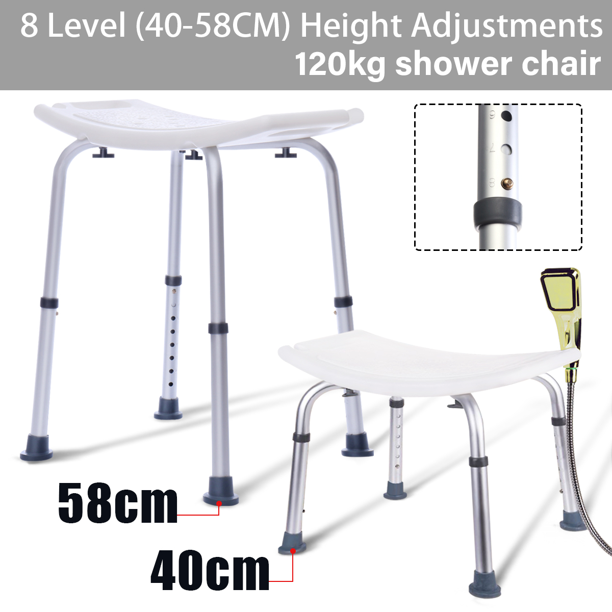 Astounding Us 43 12 37 Off Portable Height Adjustable Bath Tub Shower Seat 8 Backless Light Weight Stool Chair Safety Lightweight For Elderly Disabled In Pdpeps Interior Chair Design Pdpepsorg