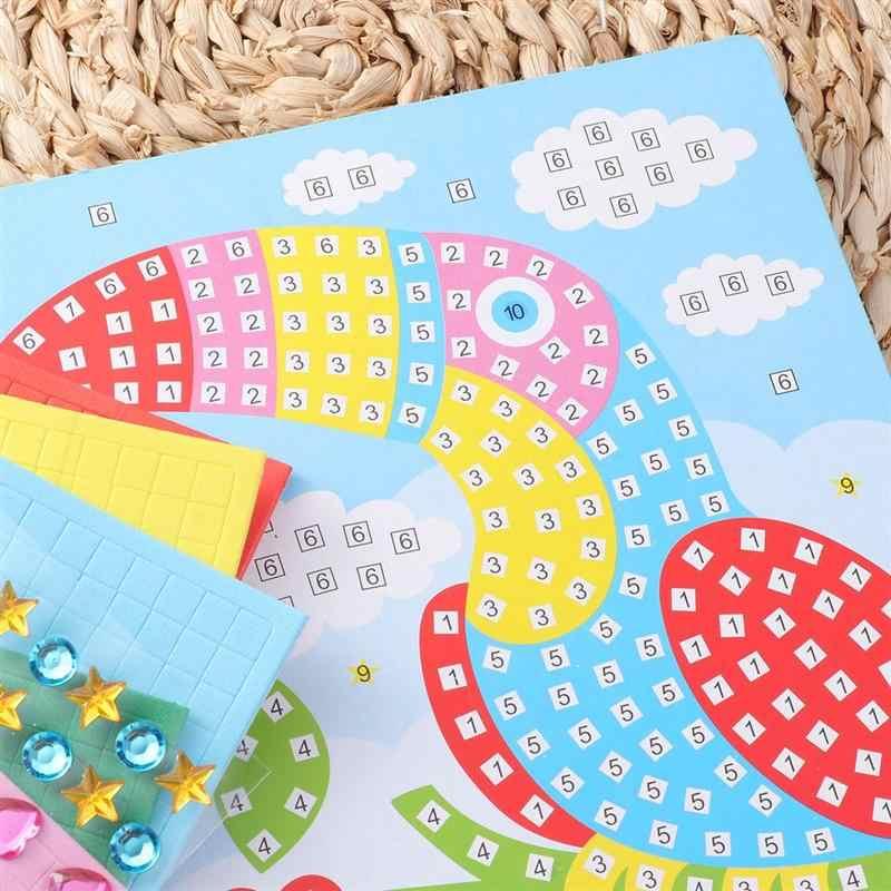 Точечная наклейка EVA 3D Мозаика Наклейки на морскую тематику наборы DIY ручной Pinup картина крафт стикер s для детского сада дома