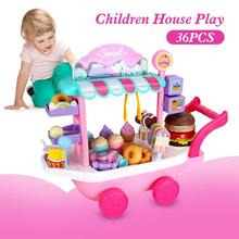 36ps Mini Ice Cream Candy Trolley House Play Educational Toys Truck Candy Trolley Ice Cream House Brain Game Kids Toys