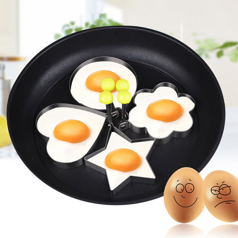 4 Style Stainless Steel Fried Egg Shaper Pancake Mould Omelette Mold Frying Egg Cooking Tools Kitchen Accessories Gadget 2018.L
