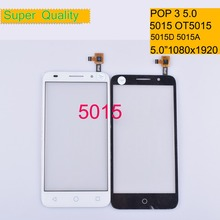 10Pcs/lot For Alcatel One Touch POP 3 5.0 5015D 5015A 5015X OT5015 5015 Touch Screen Touch Panel Sensor Digitizer Front Glass цены онлайн
