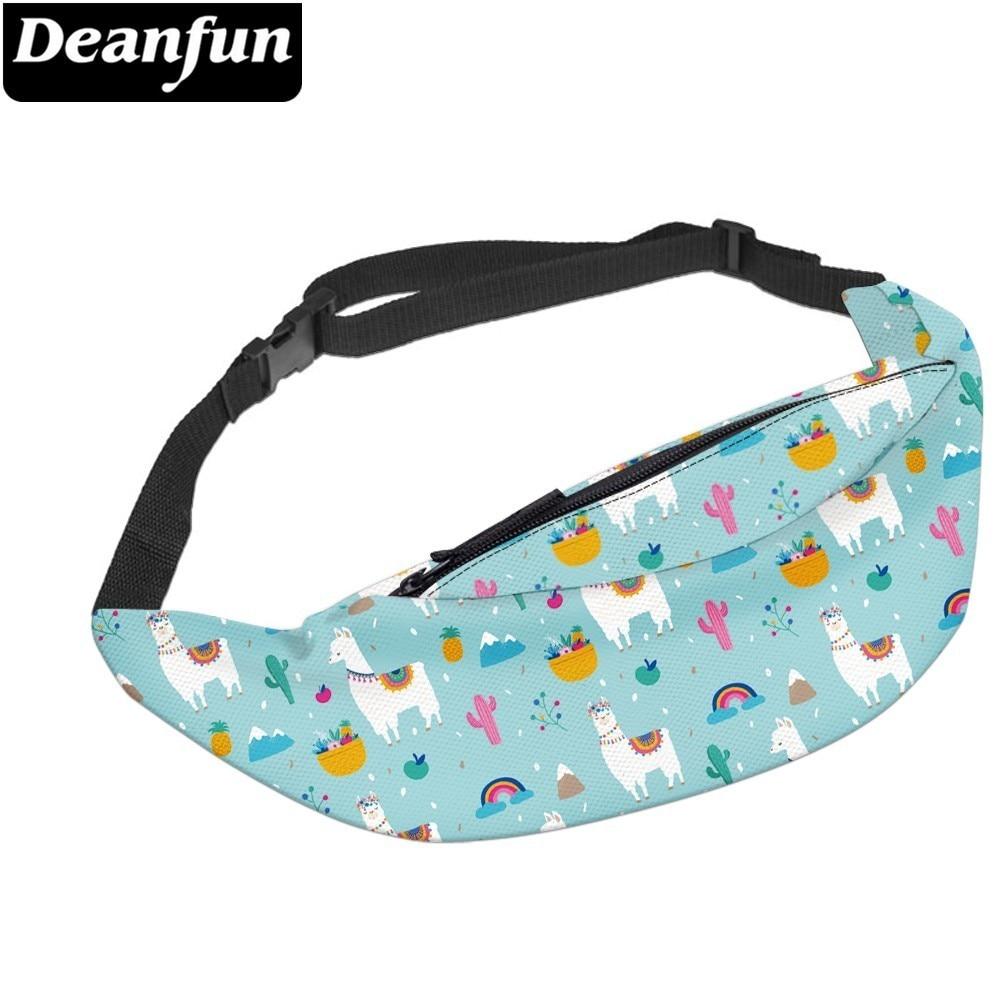 Deanfun Water Resistant Llama Belt Fanny Pack Man Alpaca Cactus Pineapple Fruit Travel Waist Hip Bag  YB-42