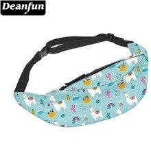 Deanfun Water Resistant Llama Belt Fanny Pack Man Alpaca Cactus Pineapple Fruit Travel Waist Pack Hip Bag  YB-42