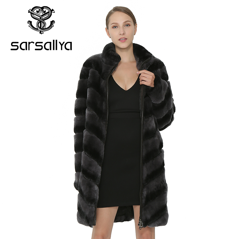 SARSALLYAWomen Natural Rex Rabbit Fur Coat Thick Warm Real Fur Coat Womens Clothing Genuine Rabbit Fur Vest Jacket