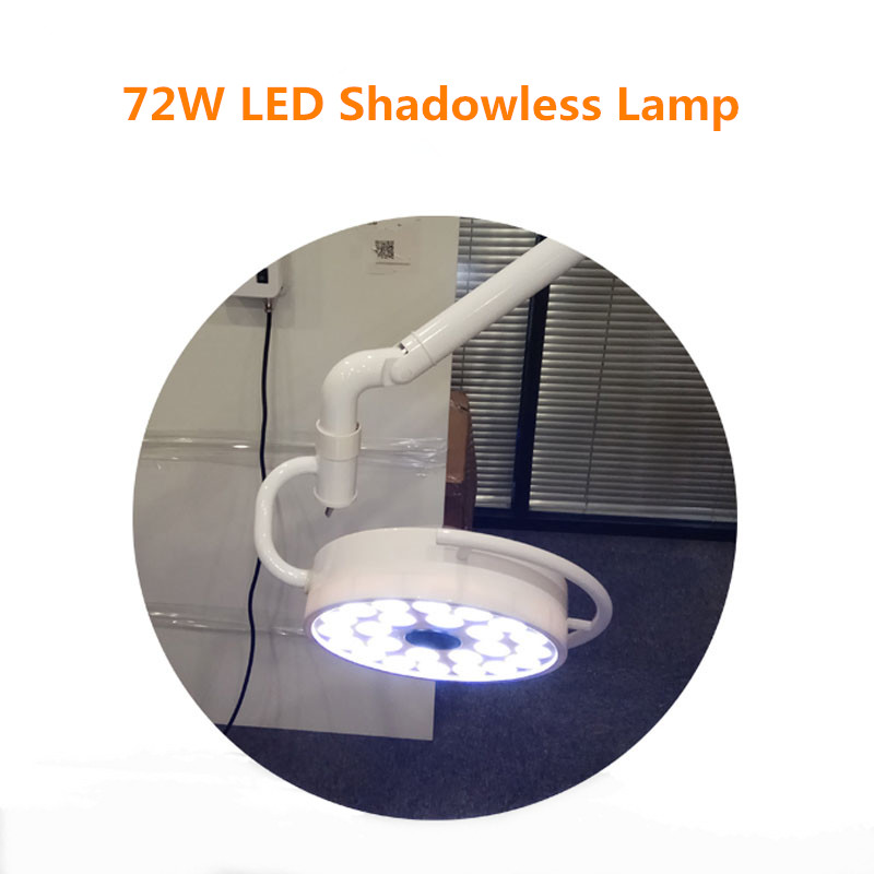 Купить с кэшбэком Ceiling Mounted 72W LED Surgical Examination Light Shadowless Lamp Surgery Dental Department Pet Clinic Lamp Operation Light