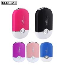 лучшая цена GLAMLASH USB Eyelash Mini Air Conditioning Blow dryer Fan Lash Glue Grafted Dedicated Dryer Tool for eyelash extensions