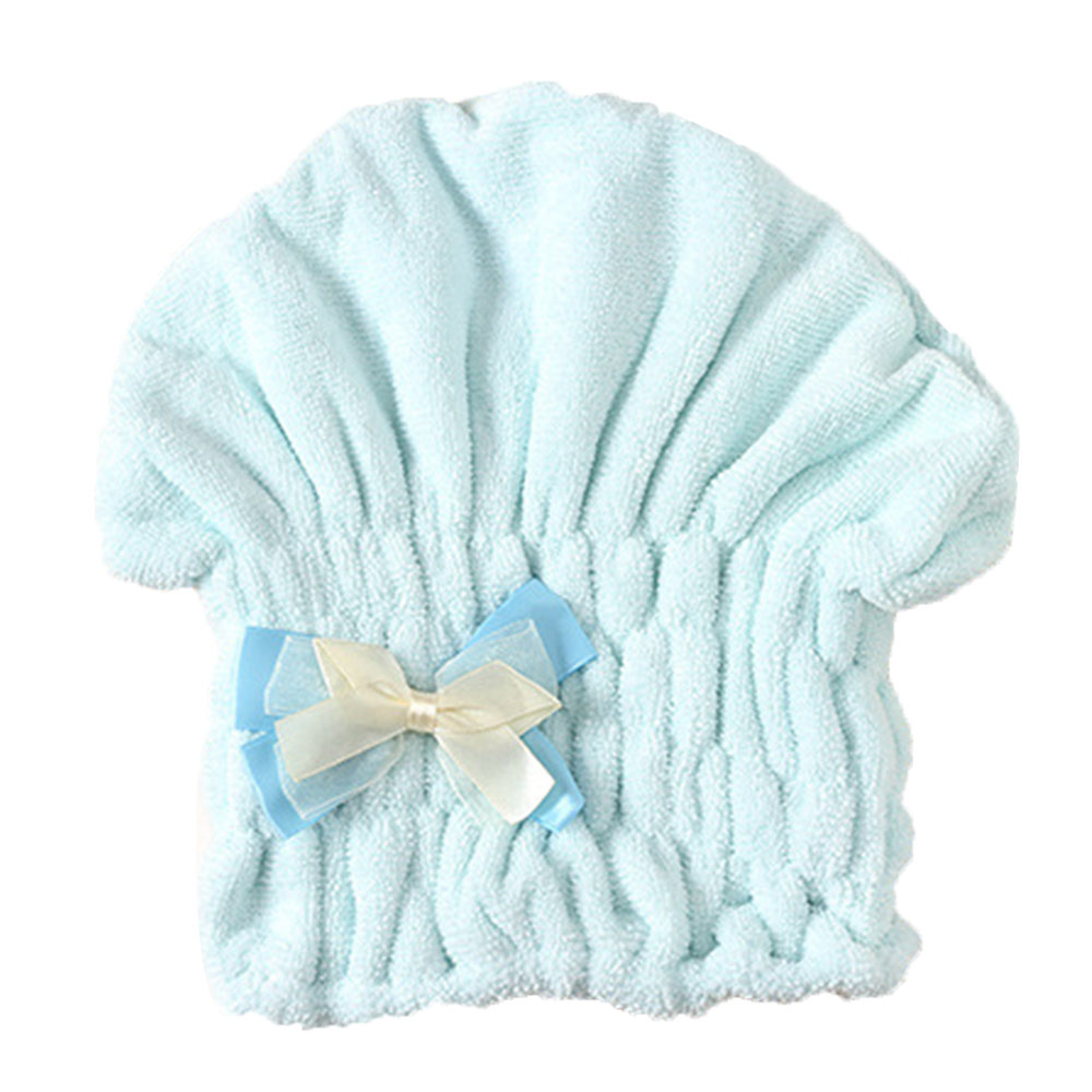 New Womens Microfiber Quick Dry Hair Bath Hat Cap Super Absorbent Towel Thick Turban Hair-drying