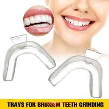 2 шт прозрачные ночные защитные камедь щит рот лотки для брусизма отбеливание зубов шлифовка для бокса оборудование для защиты зубов