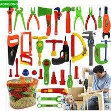 Детские развивающие ролевые игрушки, набор инструментов, детский игровой домик, классические пластиковые детские инструменты, молоток, набор инструментов, имитационный инструмент, игрушки