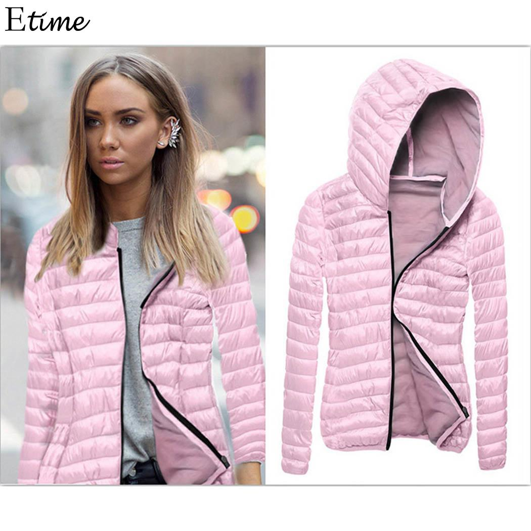 FANALA 2018 Hooded Women Winter Jacket Short Cotton Padded Womens Coat Autumn Casaco Feminino Inverno Solid Color   Parka