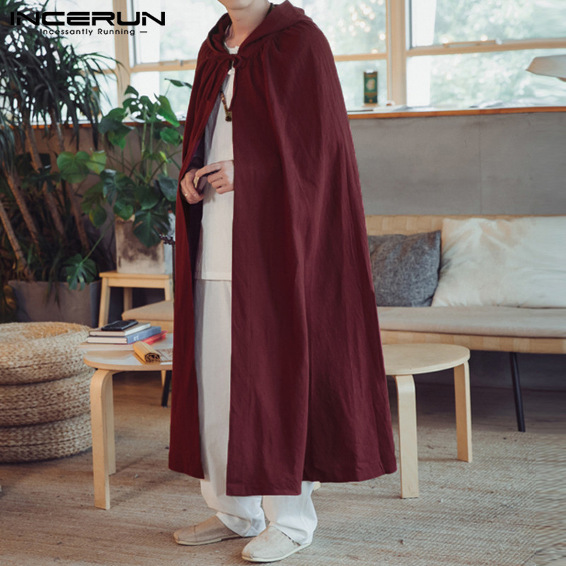 71417779c7ad8 Detail Feedback Questions about Gothic Hiphop Mens Trench Long Cloak Coat  Jacket Outwear Vintage Cape Windbreaker Fashion Moletom Hombre Overcoats  Solid ...