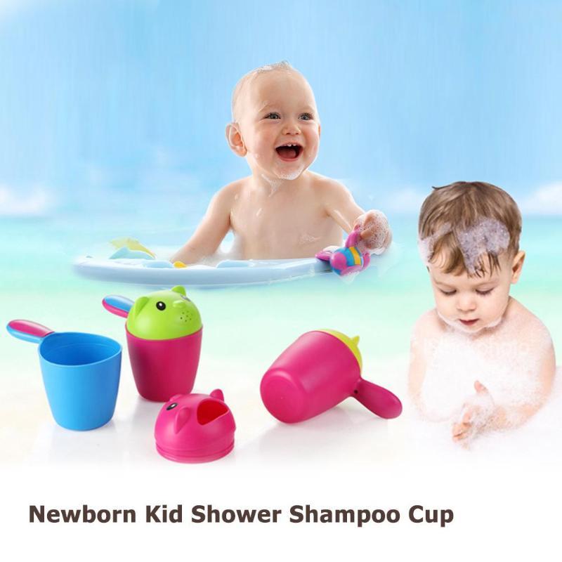 Cute Hair Cup Cartoon Washing Bathing Shower Cup Newborn Baby Shampoo Bailer Water Ladle Shower Toys For Children Bath Tool
