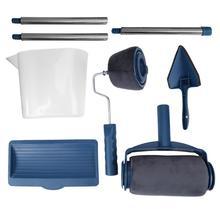 8 шт./компл. краска собственного приготовления бегун Pro роликовая щетка набор инструментов ручка Флокированный Edger офис домашняя, комнатная, настенная краска ing кисть, валик наборы