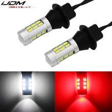 Ijdm 7440 w21w t20 led branco/vermelho duplo-cor 1156 p21w 7506 lâmpadas led para backup do carro luzes reversas & conversão da lâmpada de nevoeiro traseira