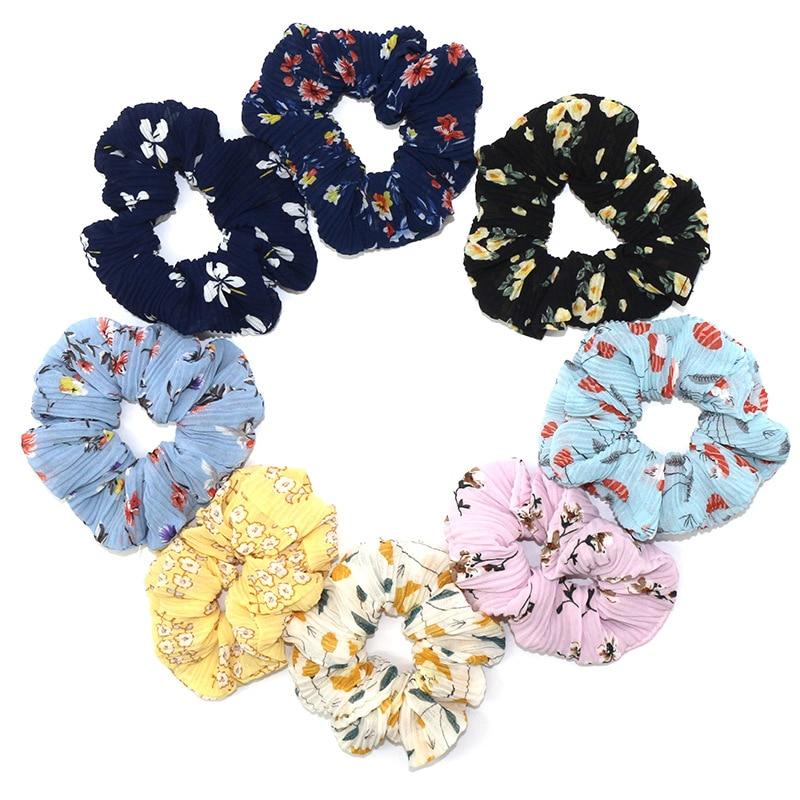 Elastic Gum Rope Ponytail-Holder Ribbon-Bow Bands Hair-Accessories Scrunchie Tiara Satin