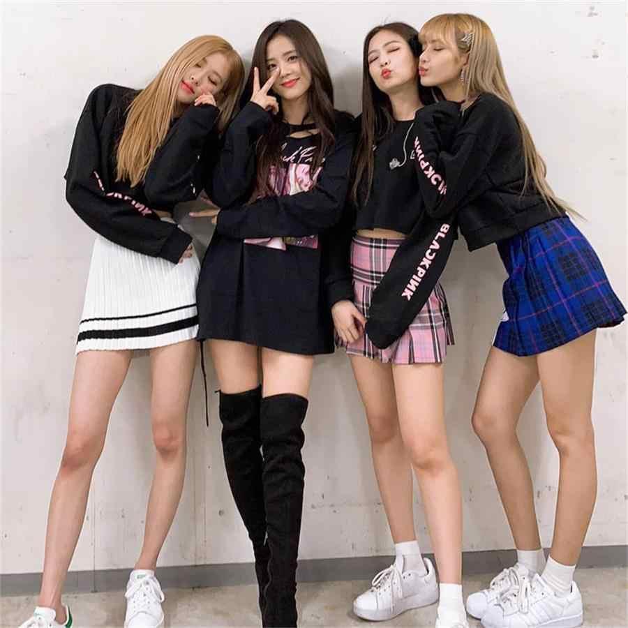 kpop blackpink jennie jisoo support hoodie pullover 2018