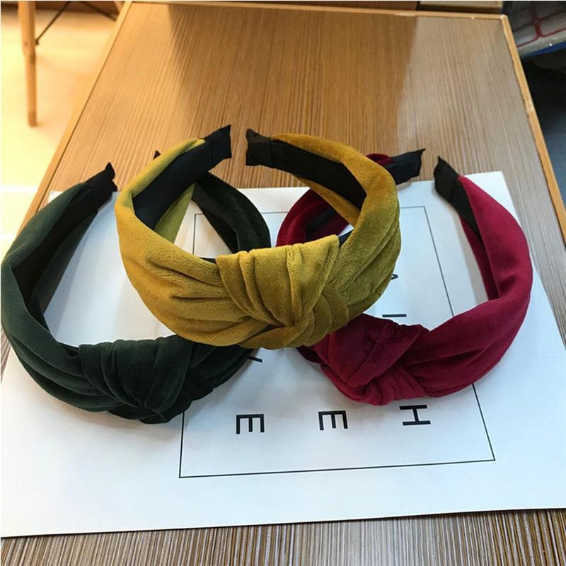 GJ Women Fabric Band Hairband Headband Twist Hairband Bow Knot Cross Headwrap