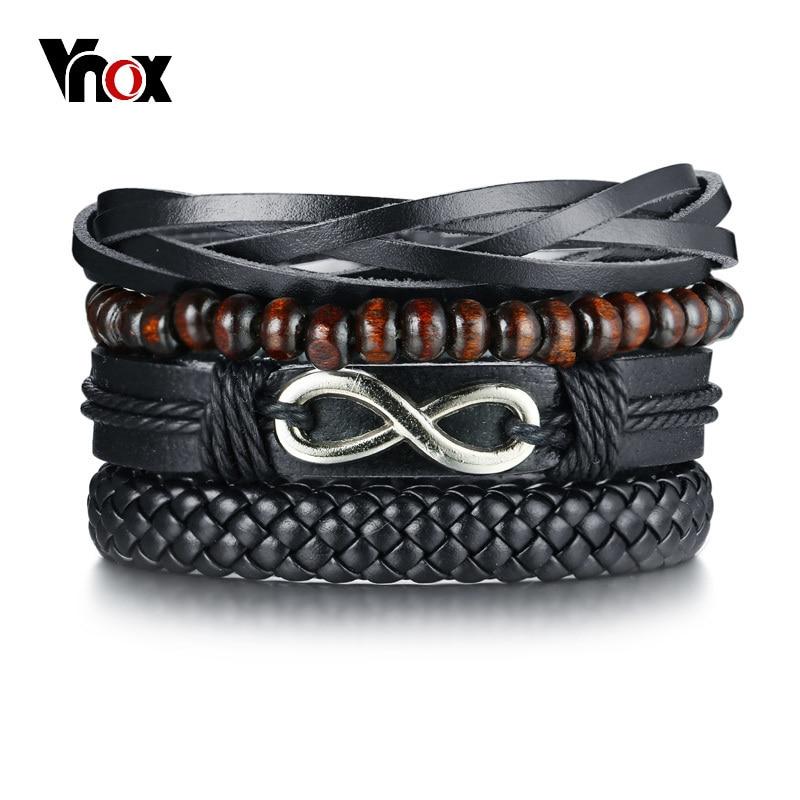 Vnox Mix 4 Wrap Bracelets...