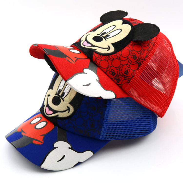 New Lovely Mesh Baseball Cap Kids Boys Girls Adjustable Caps Fashion Cartoon Mickey Minnie Children Snapback Hat Bone Masculino
