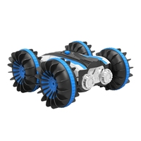 Rc Car Amphibious Waterproof Remote Control Car 2.4Ghz 4Wd All Terrain Double Side 360 Degree Spins, 1/18 Scale Toy