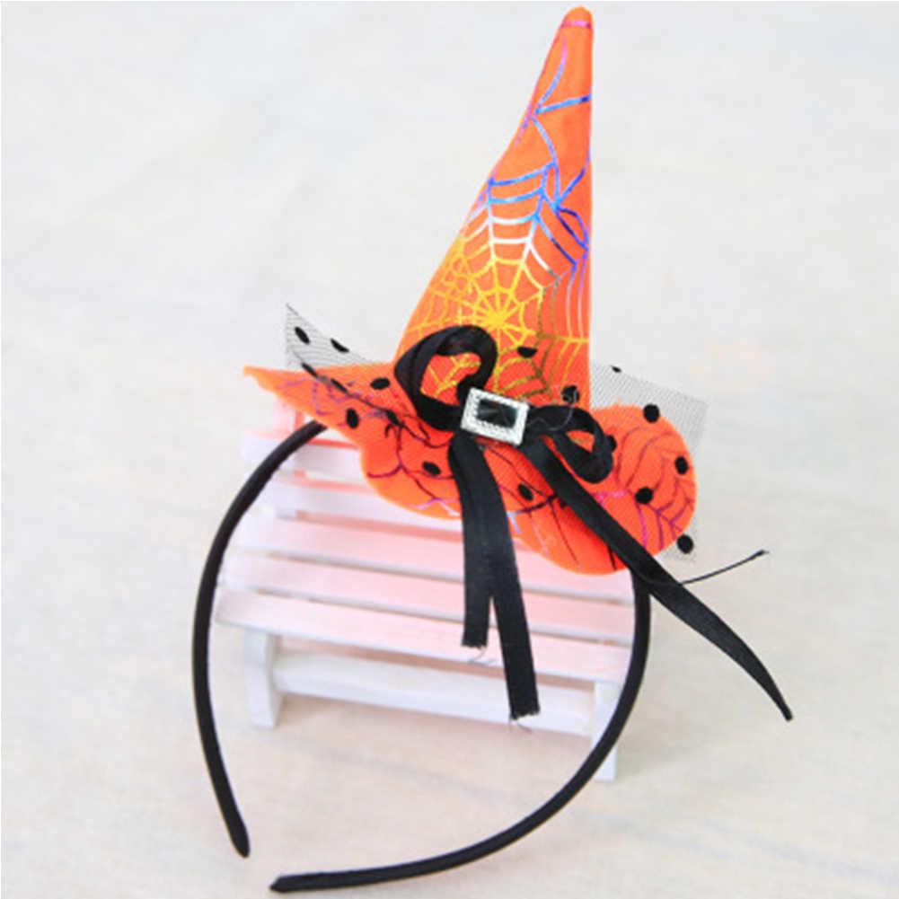 Шляпа на Хеллоуин повязка для волос, мини ведьмы кепки бар наряжаться Хэллоуин реквизит сцены
