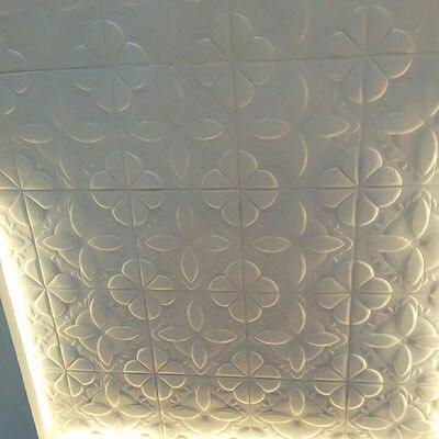 Épaissir gris Stickers muraux pour chambre salon bricolage plafond auto-adhésif papier peint décorations murales Stickers muraux