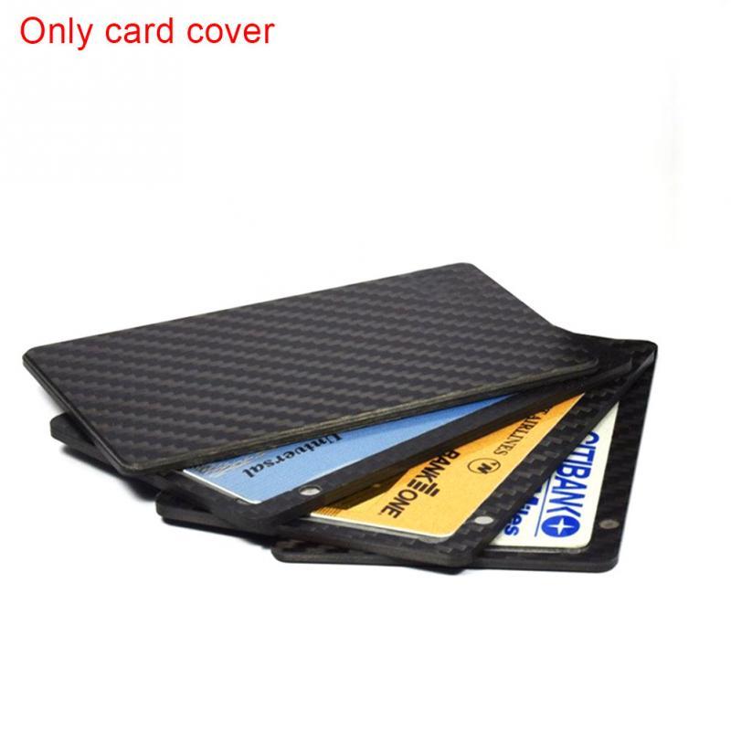 1PC Sliding Fan Carbon Fiber Wallet Cash Card Holder Business Wallet Credit Card Protector Case Pocket Purse Fireproof Клейкая лента
