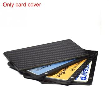 1PC Sliding Fan Carbon Fiber Wallet Cash Card Holder Business Wallet Credit Card Protector Case Pocket Purse Fireproof kožne rukavice bez prstiju