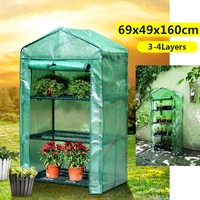 PVC Plastic Cover Roof Garden Greenhouse House Flower Plant Keep Warm Shelf Shed Durable Portable Roll up Zipper Outdoor Breath